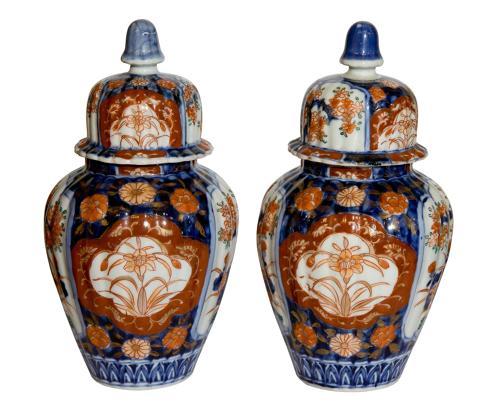 A Pair of Meiji Period Imari Vases C1900
