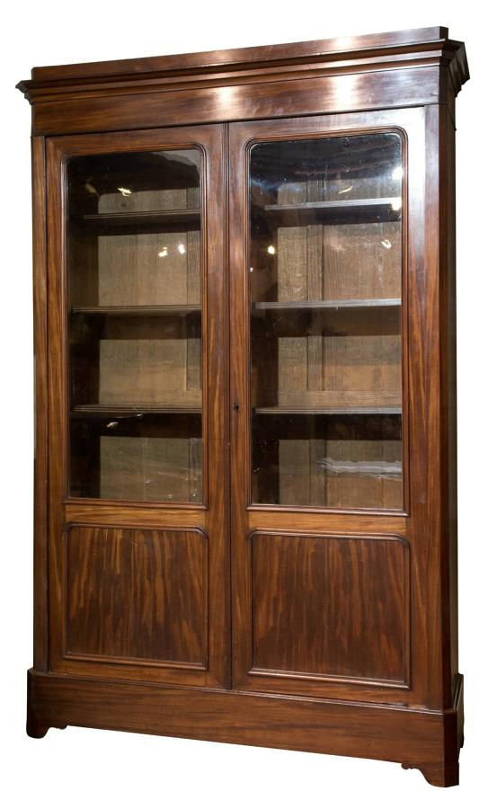 French 2 door bookcase 19thc