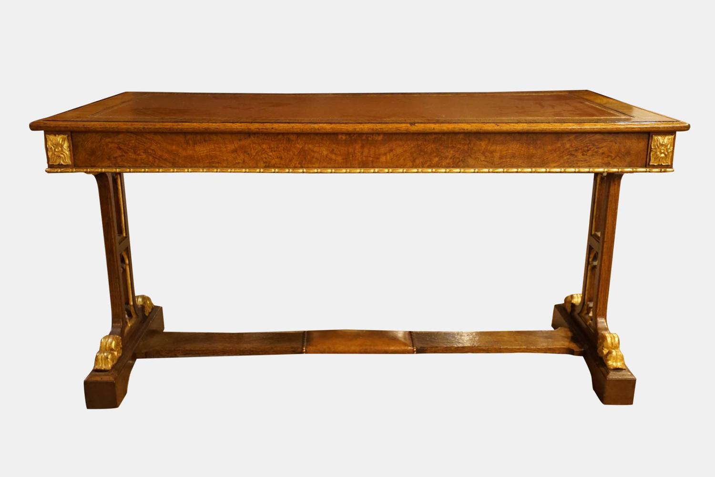 Regency Oak Gothic Library Table