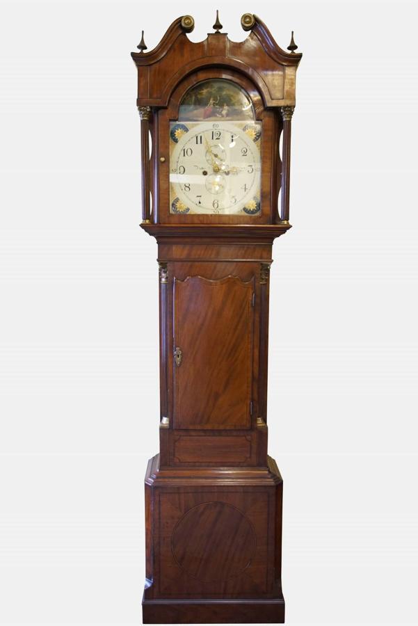 A Mahogany & Cross Banded 8 Day Longcase Clock
