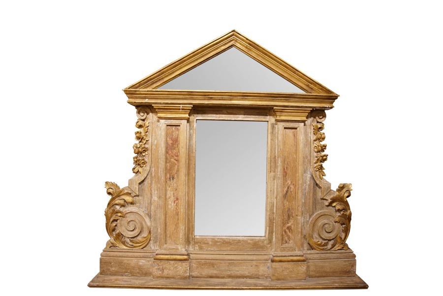 19thC Overmantel Mirror