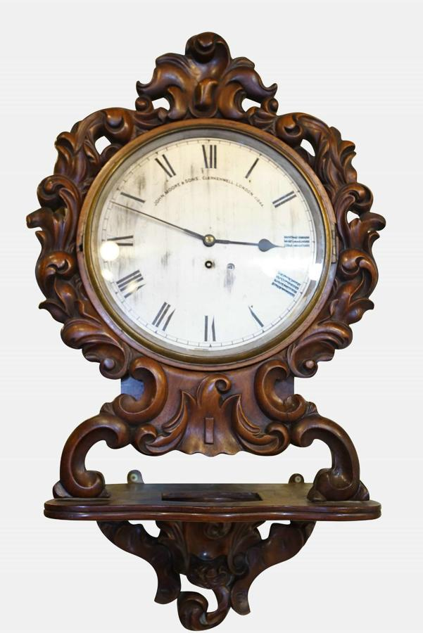 A Mahogany Cased Fusee Wall Clock