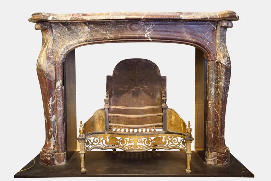 19thc French Marble Fireplace Surround