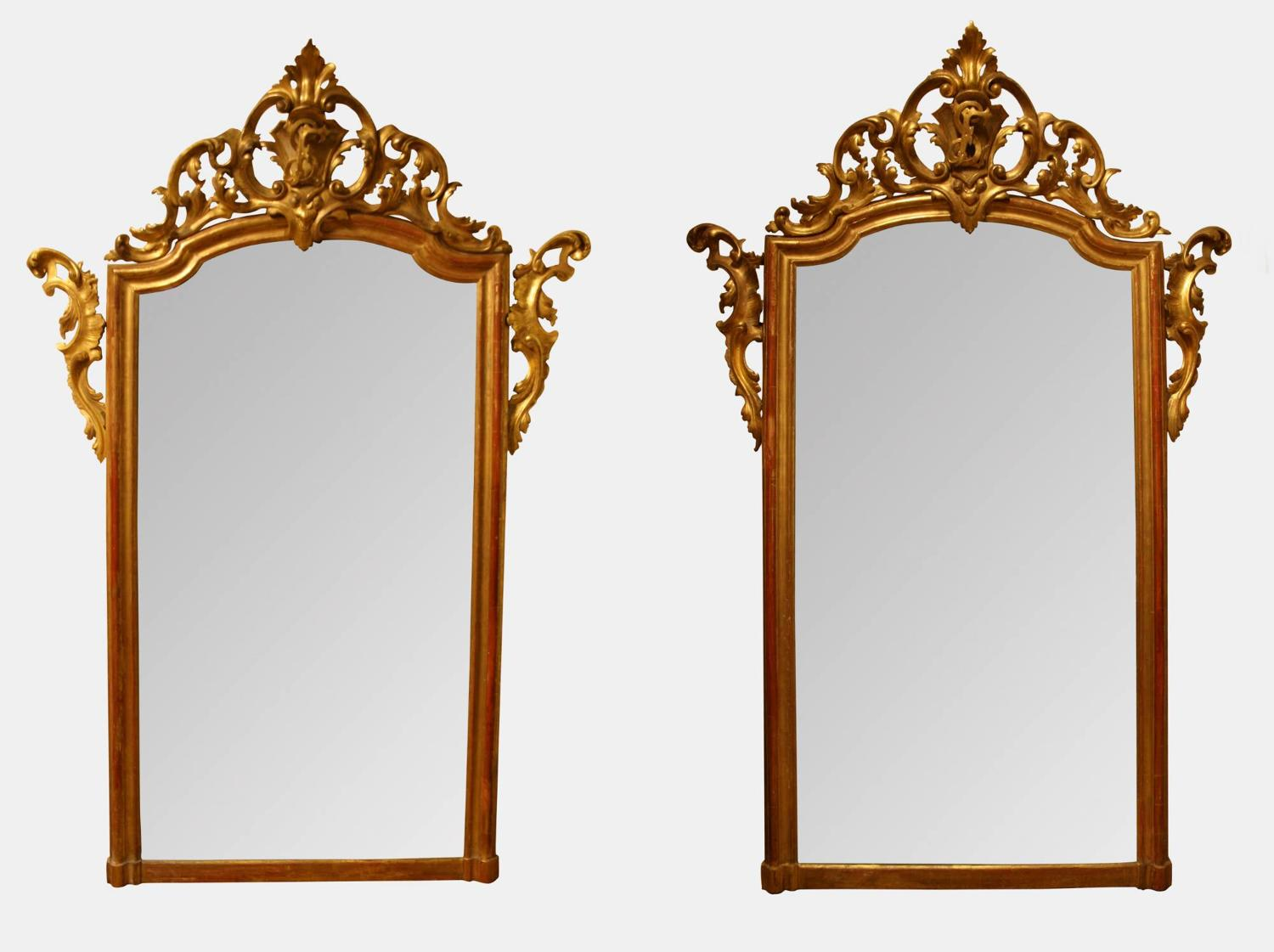 Large Gilded Mirrors