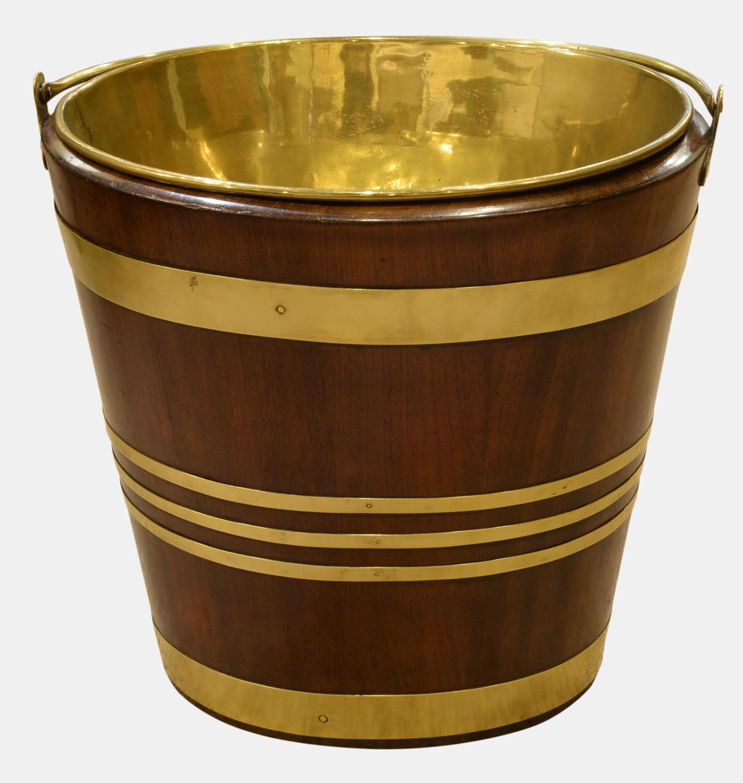 Oval Brass Bound Mahogany Peat Bucket