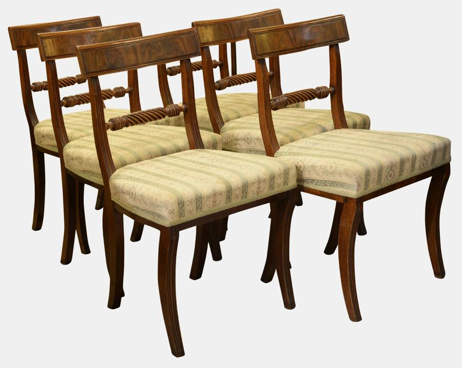 Set of 6 Regency Period Dining Chairs