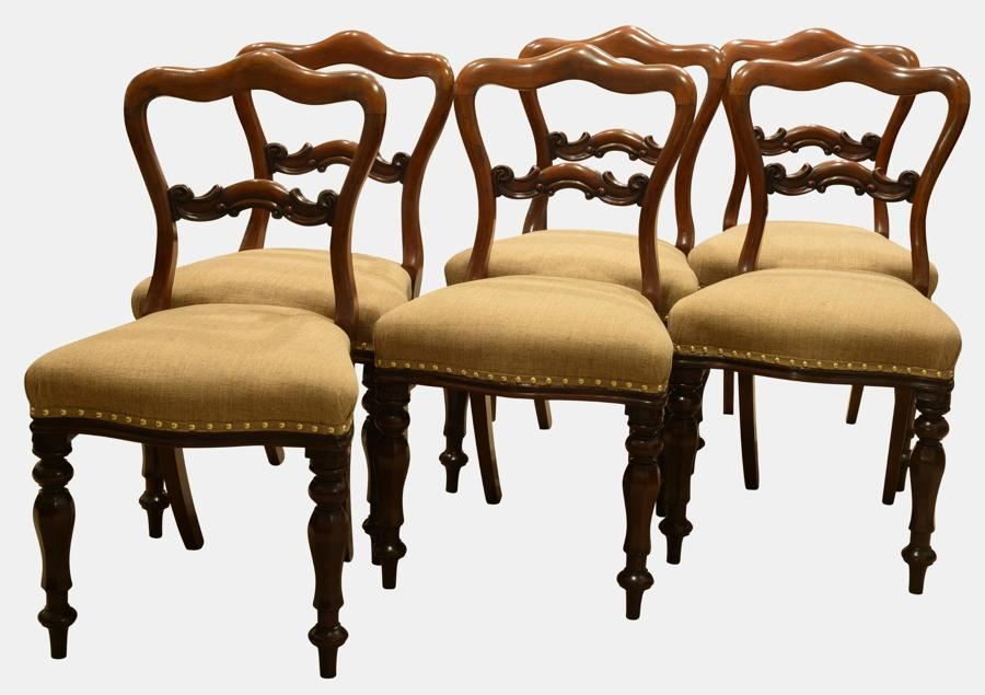 Set of 6 Mahogany Victorian Period Chairs