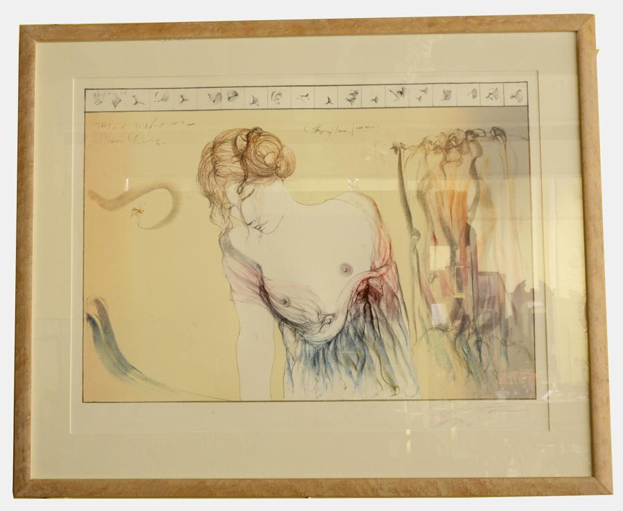 Signed & Dated Lithograph by Guilherme de Faria