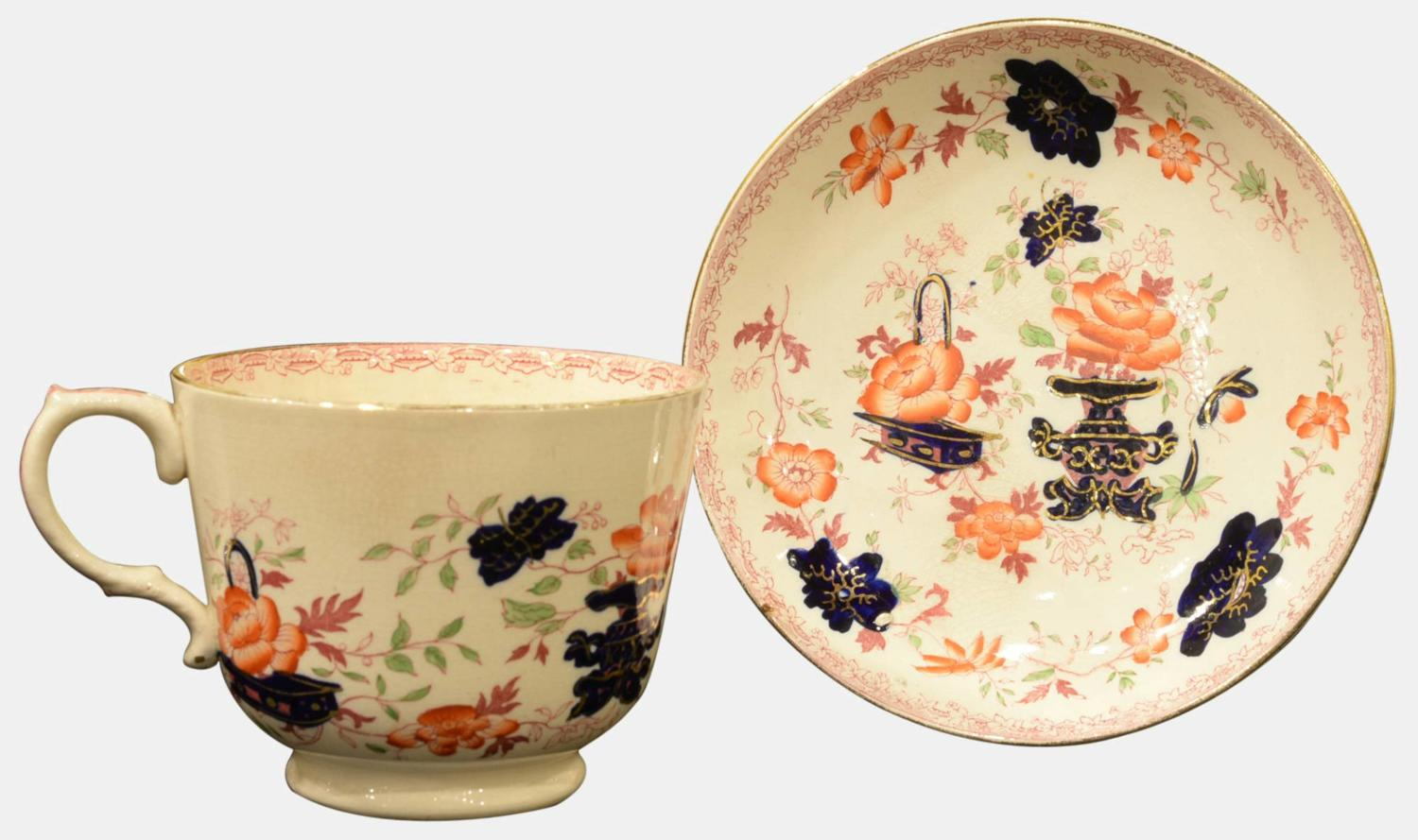 Outsize Staffordshire Teacup and Saucer