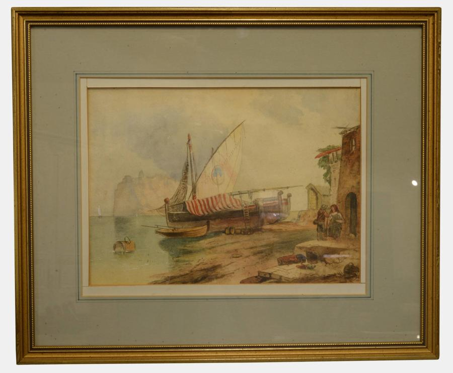 Watercolour of Boats