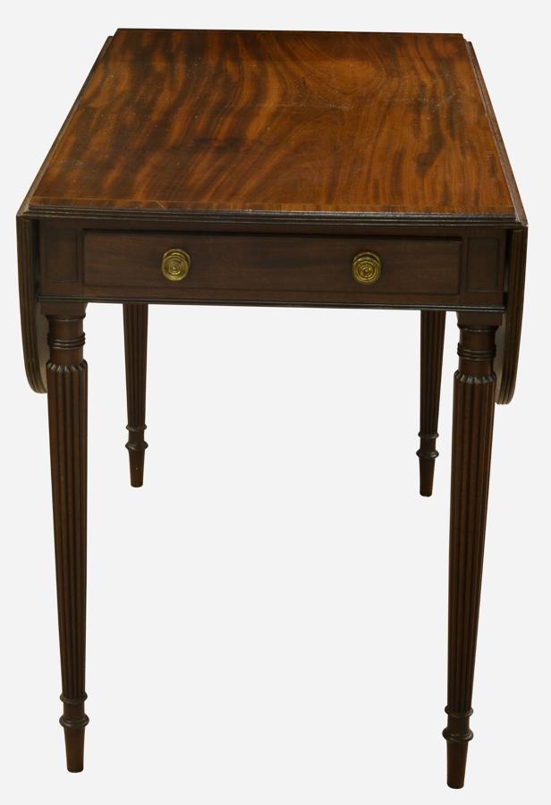 Mahogany cross-banded pembroke table