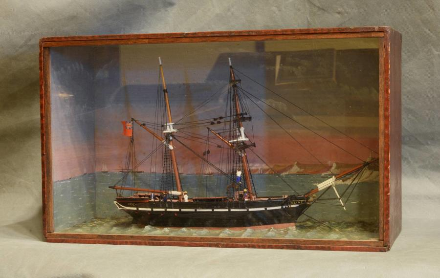 Waterline Model of a Two Masted Sailing Vessel