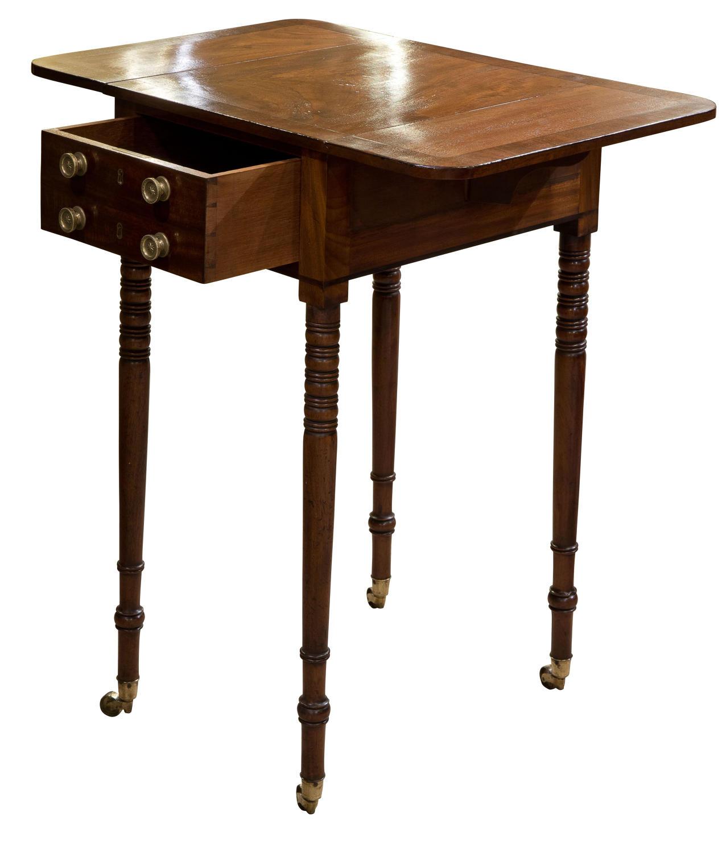 A fine mahogany worktable