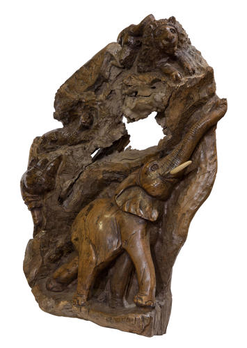 African rootwood carving