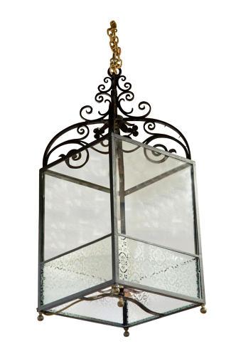 Wrought iron lantern