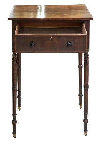 Regency period mahogany side table
