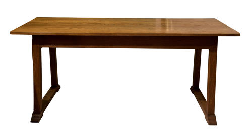 Arts & Crafts oak refrectory dining table by Heal & Son