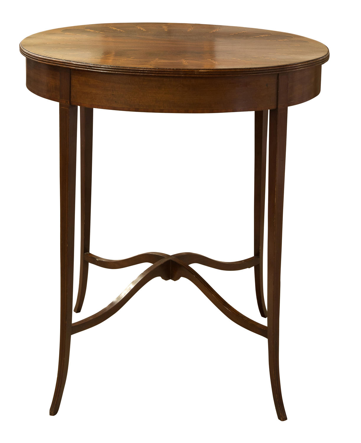 Edwardian table with decorative inlay