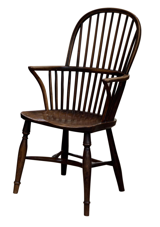 An Ash and Elm Hoopstick back windsor chair