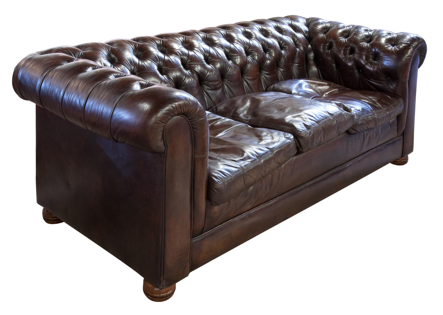 Brown leather chesterfield sofa in Chaise Longues, Sofas & Day Beds