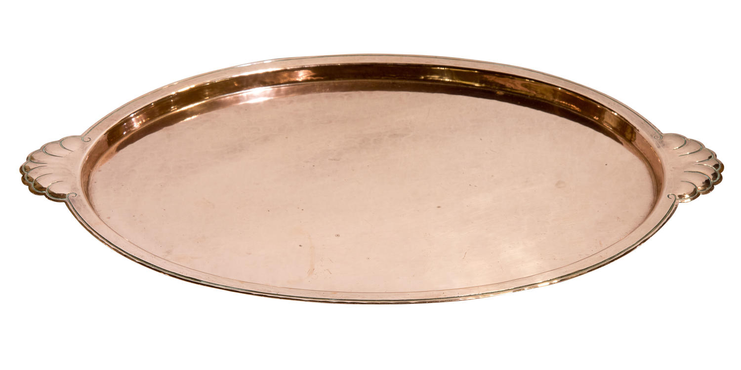 Arts & Crafts oval copper tray c1900