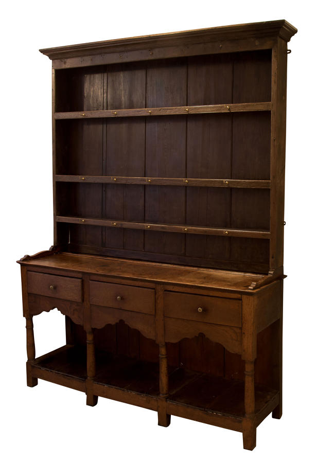 George III oak pot board dresser