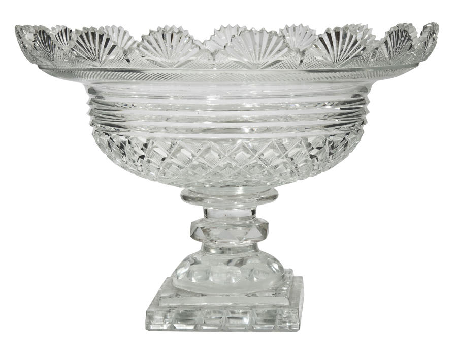 A Regency cut glass footed sweetmeat