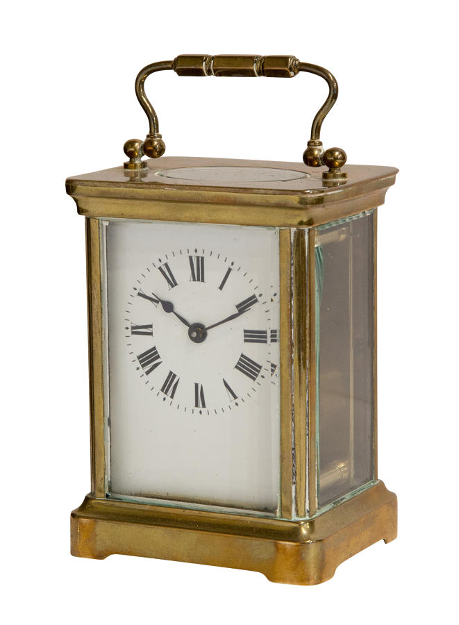 Enamel Dial French 8 Day Carriage Clock