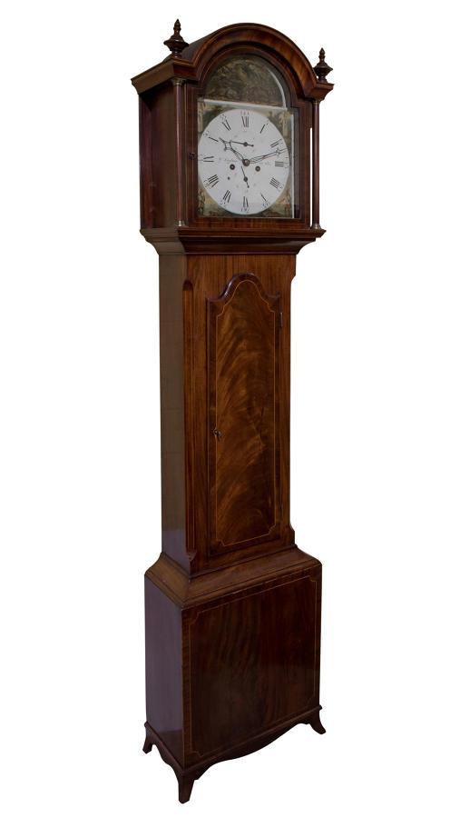 Late Georgian mahogany longcase clock