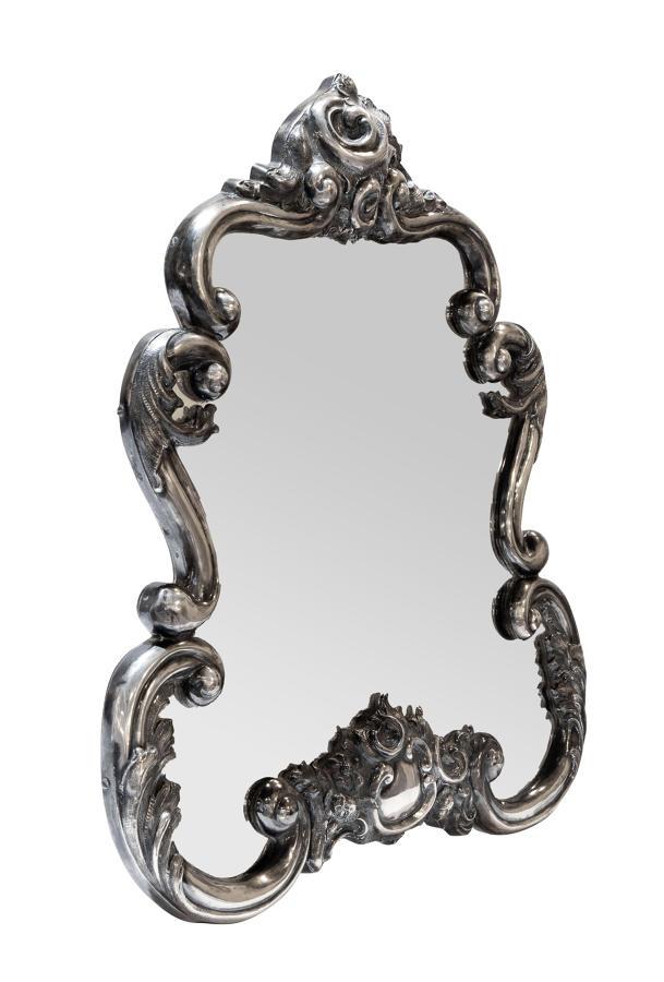 Vienna silver vanity mirror, hallmarked 1855