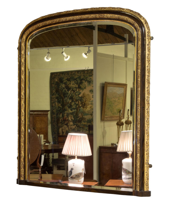 Early 20thC overmantel mirror