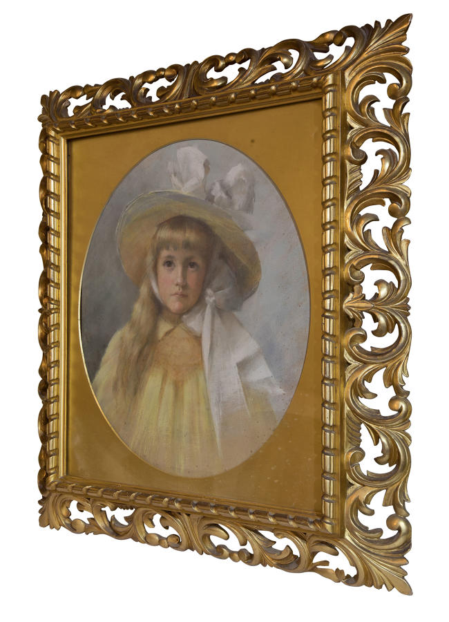 Pastel portrait dating from the 19thC