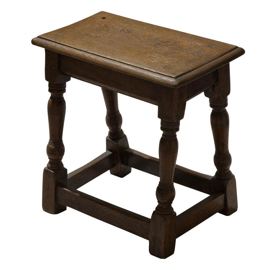Oak joined stool c1900