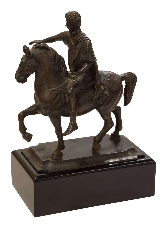 19thC copy of Grand Tour bronze on ebonized mahogany base