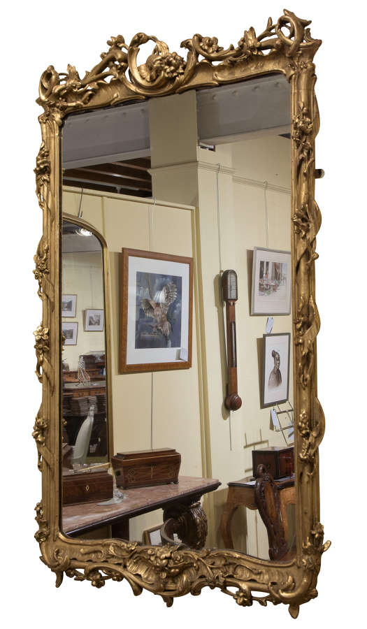 19thC giltwood wall mirror c1880