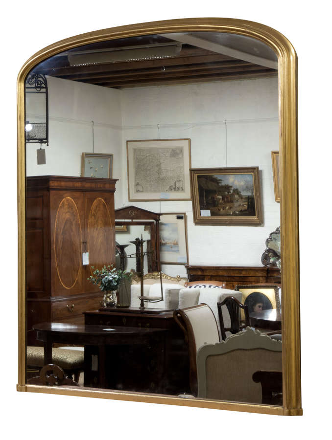 Mid Victorian giltwood framed overmantel mirror c1870