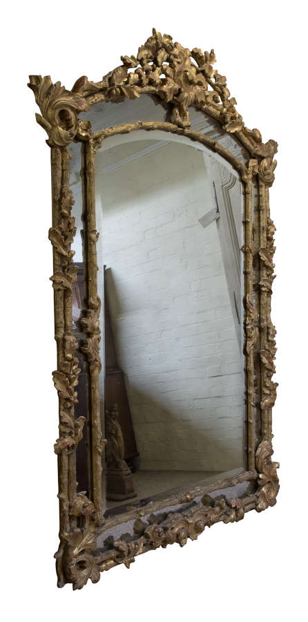 19thC French par clos mirror of large size