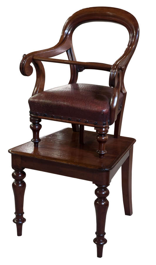 Early Victorian mahogany childs chair c1860