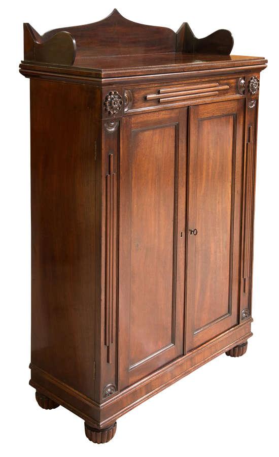 Regency mahogany cabinet of fine colour c1820