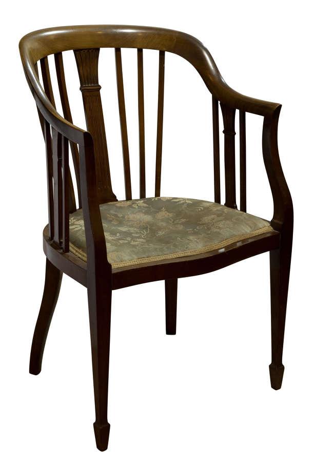 Mahogany tub chair c1890