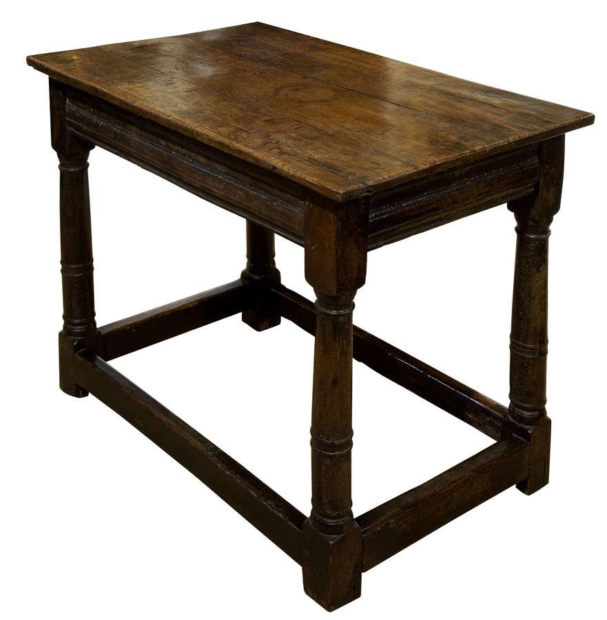 17thC oak side table c1680