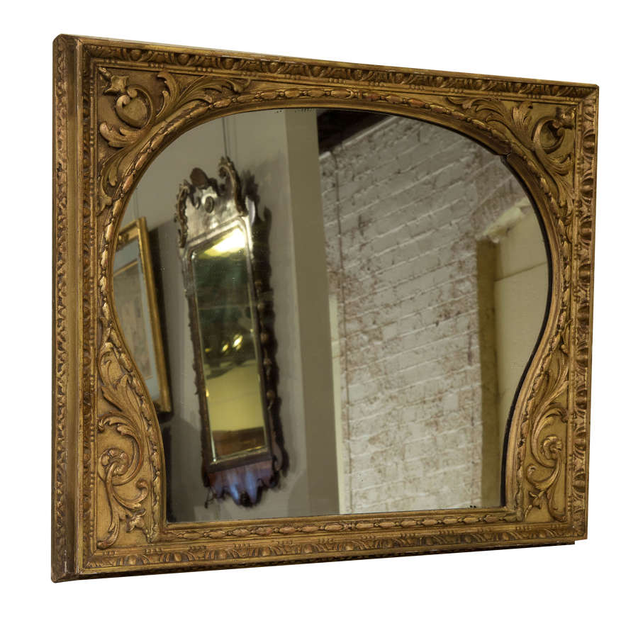 Late 19thC giltwood framed mirror