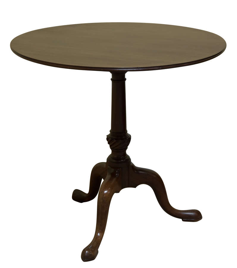 Fine Chippendale period circular Cuban mahogany tripod table c1760