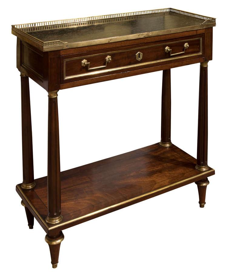 French empire mahogany console desserte c1820