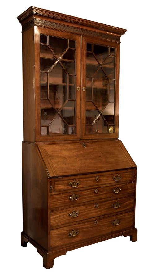 Cuban mahogany bureaux bookcase c1800