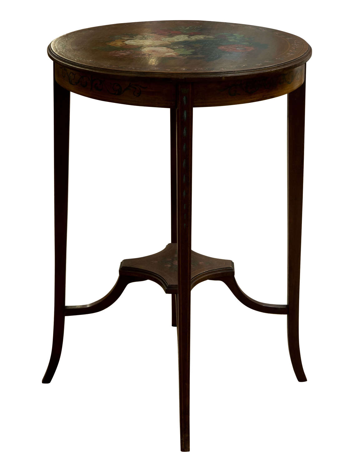 Edwardian mahogany and painted side table
