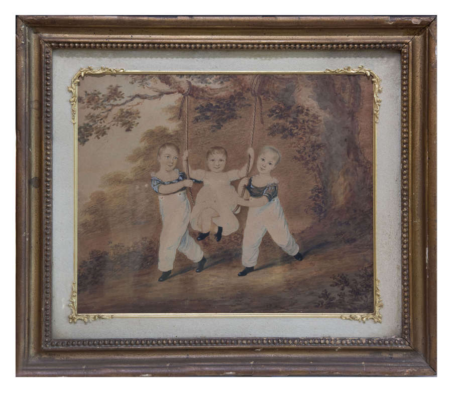 Pair of watercolours framed by Samuel Dixon c1825
