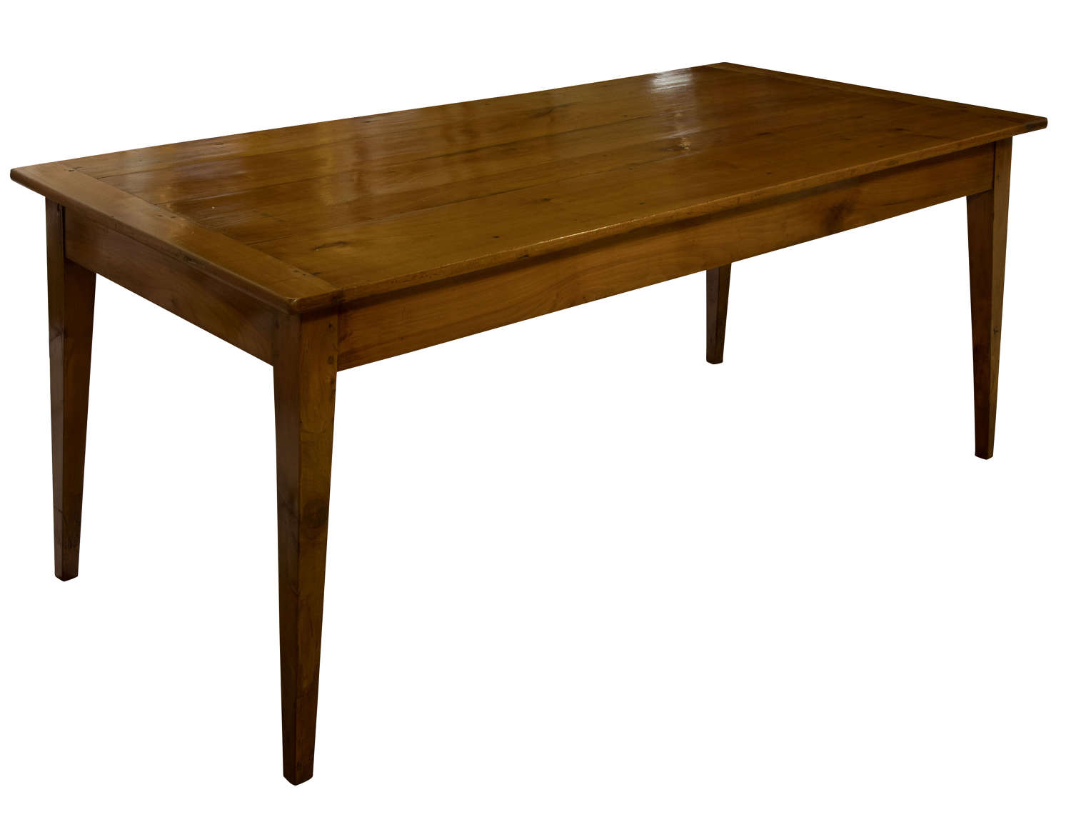 19thC French fruitwood farmhouse table of good size