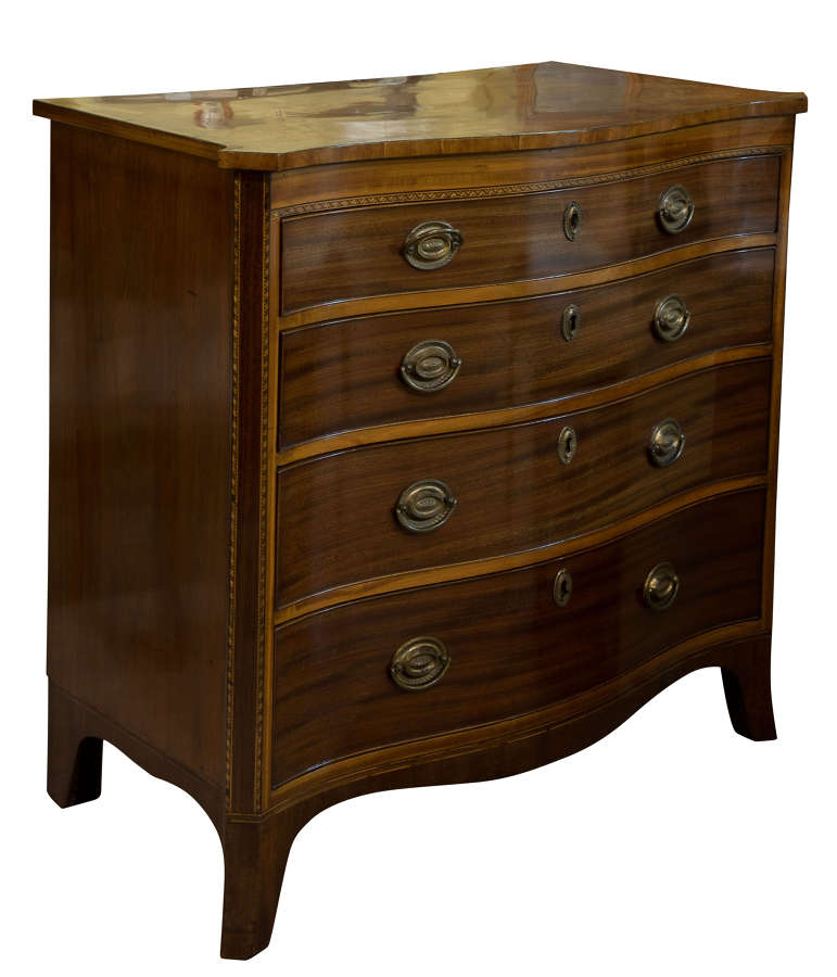 George III Mahogany Serpentine Chest of Drawers c1800