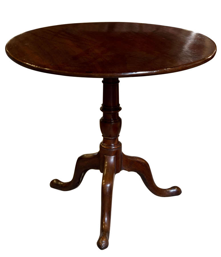 Georgian mahogany tripod table c1780